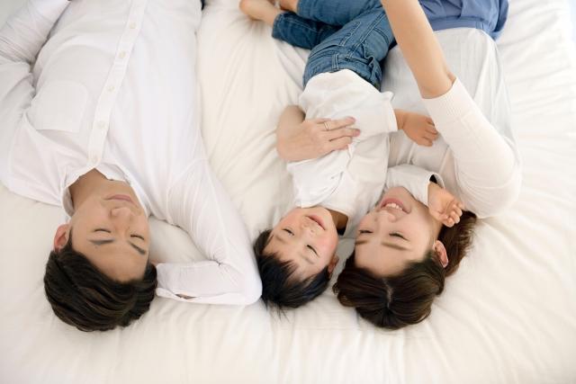 連結タイプのベッドがおすすめ!家族4人でゆったり快眠!