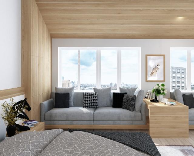 ベッドとソファを配置するレイアウトを紹介!必要な広さは?